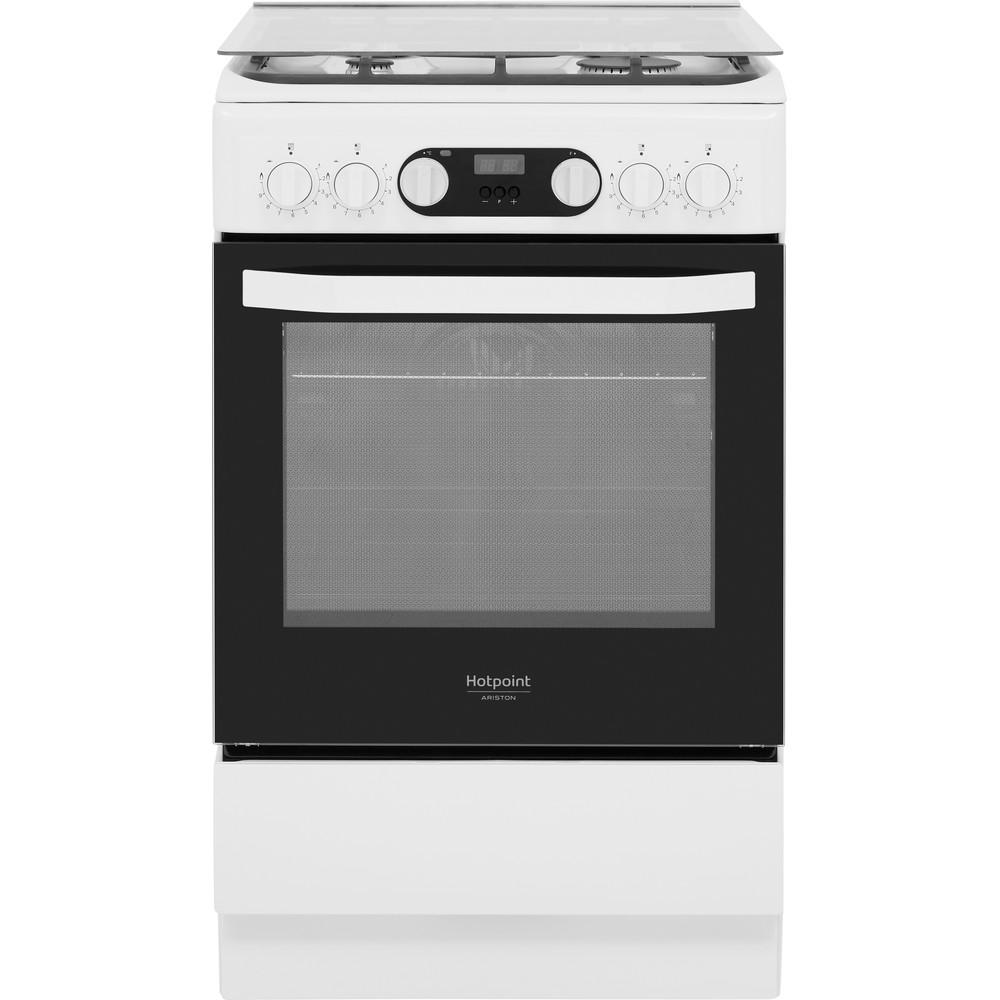 Hotpoint_Ariston Cucina con forno a doppia cavità HS5G5CHW/IT Bianco GAS Frontal