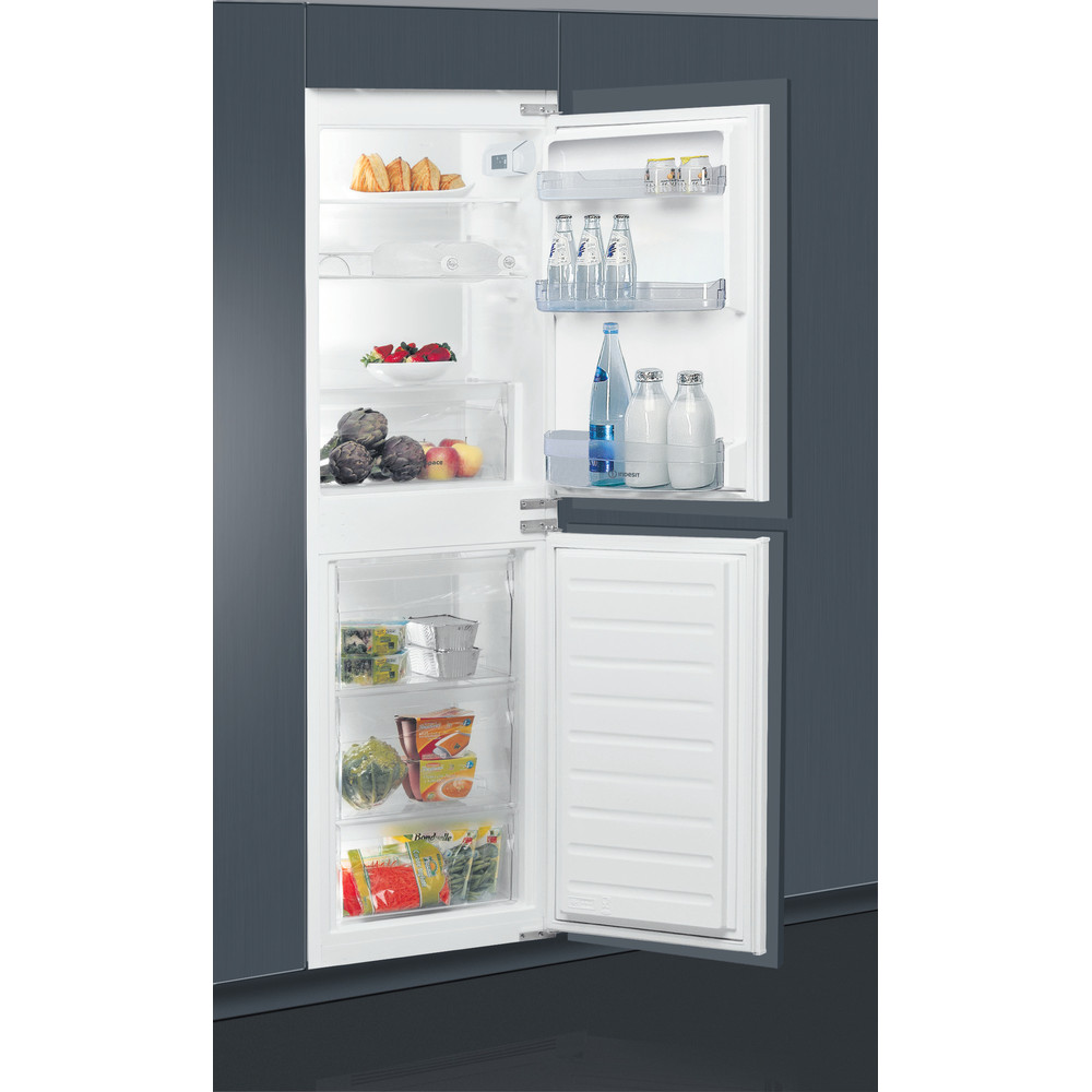 Indesit Fridge-Freezer Combination Built-in E IB 15050 A1 D.UK 1 White 2 doors Lifestyle perspective open