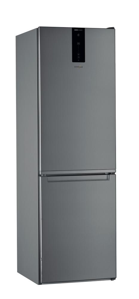 Whirlpool Combiné réfrigérateur congélateur Pose-libre W7 811O OX Optic Inox 2 portes Perspective