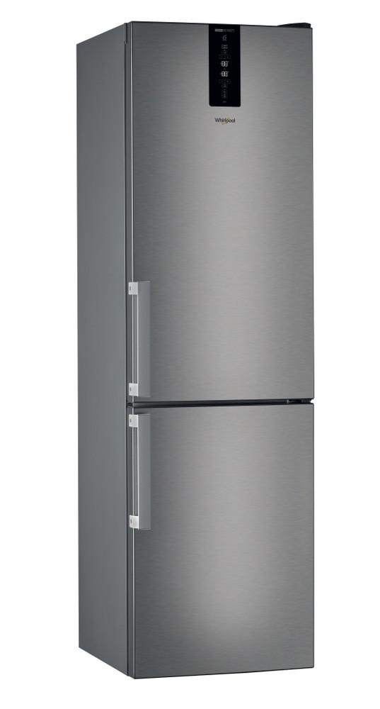 Whirlpool Комбиниран хладилник с камера Свободностоящи W7 931T MX H Огледален/ инокс 2 врати Perspective
