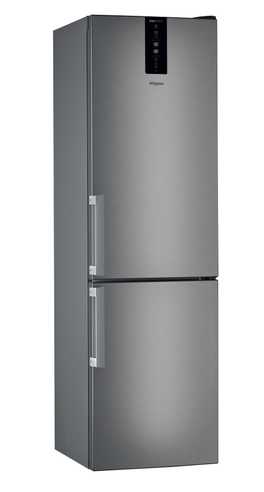Whirlpool Fridge/freezer combination Samostojni W7 931T MX H Mirror/Inox 2 doors Perspective