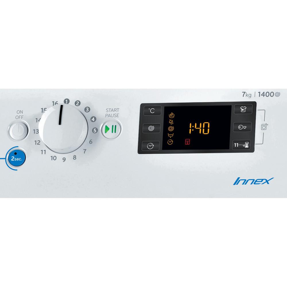 Indesit Washing machine Free-standing BWE 71452 W UK N White Front loader E Control panel