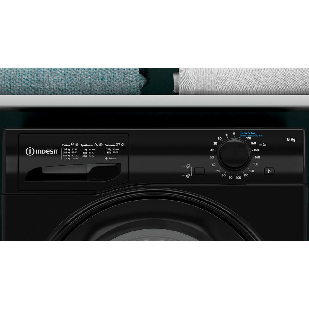 Indesit Dryer I2 D81B UK Black Lifestyle control panel