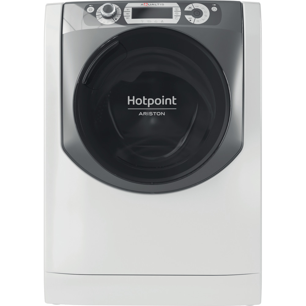 Hotpoint_Ariston Lavabiancheria Libera installazione EU AQ49D410 N Bianco Carica frontale B Frontal