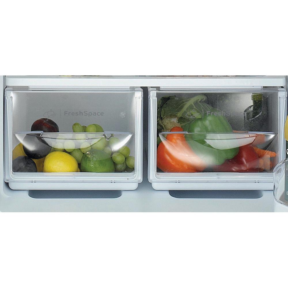 Indesit Fridge Freezer Free-standing IBD 5515 S 1 Silver 2 doors Drawer