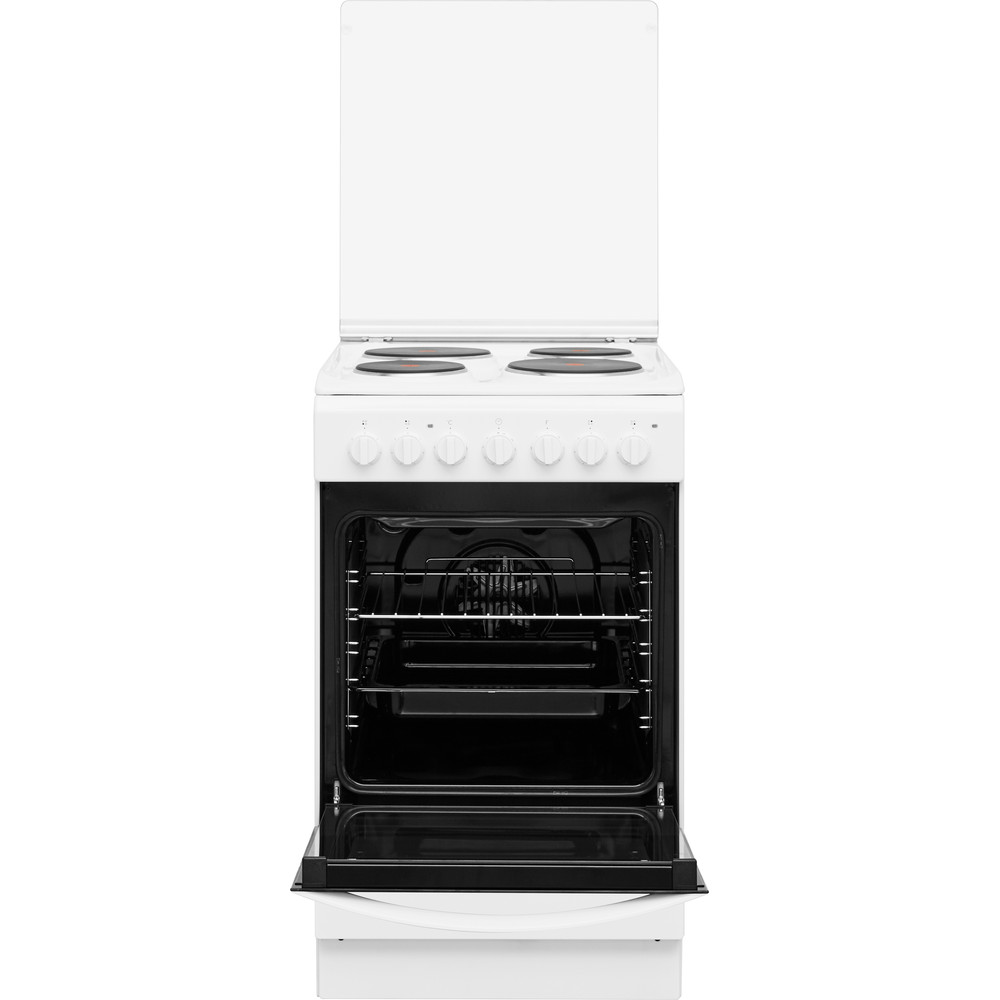 Indesit Готварска печка IS5E5PCW/E Бял Electrical Frontal open