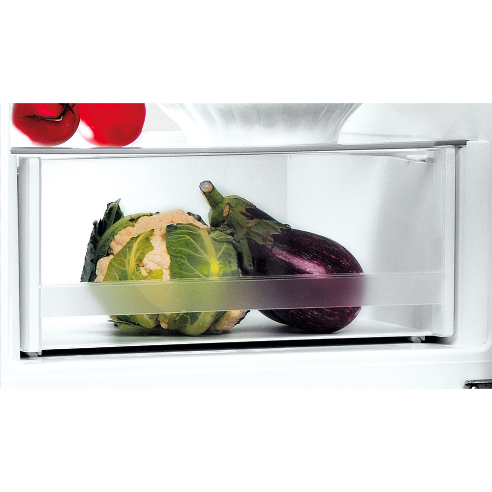 Indesit Kombinerat kylskåp/frys Fristående LI9 S1E S Silver 2 doors Drawer