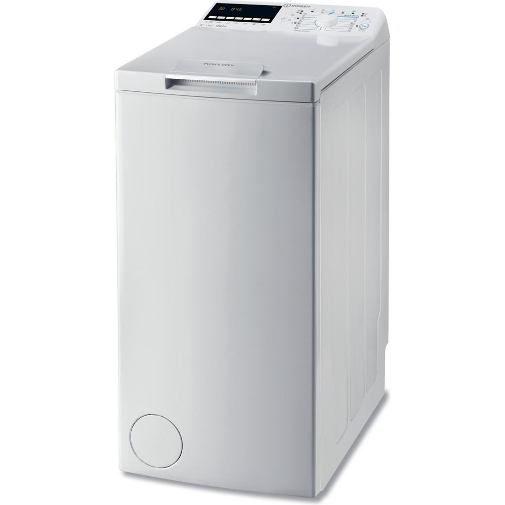 Indesit Pračka Volně stojící BTW E71253P (EU) Bílá Top loader A+++ Perspective