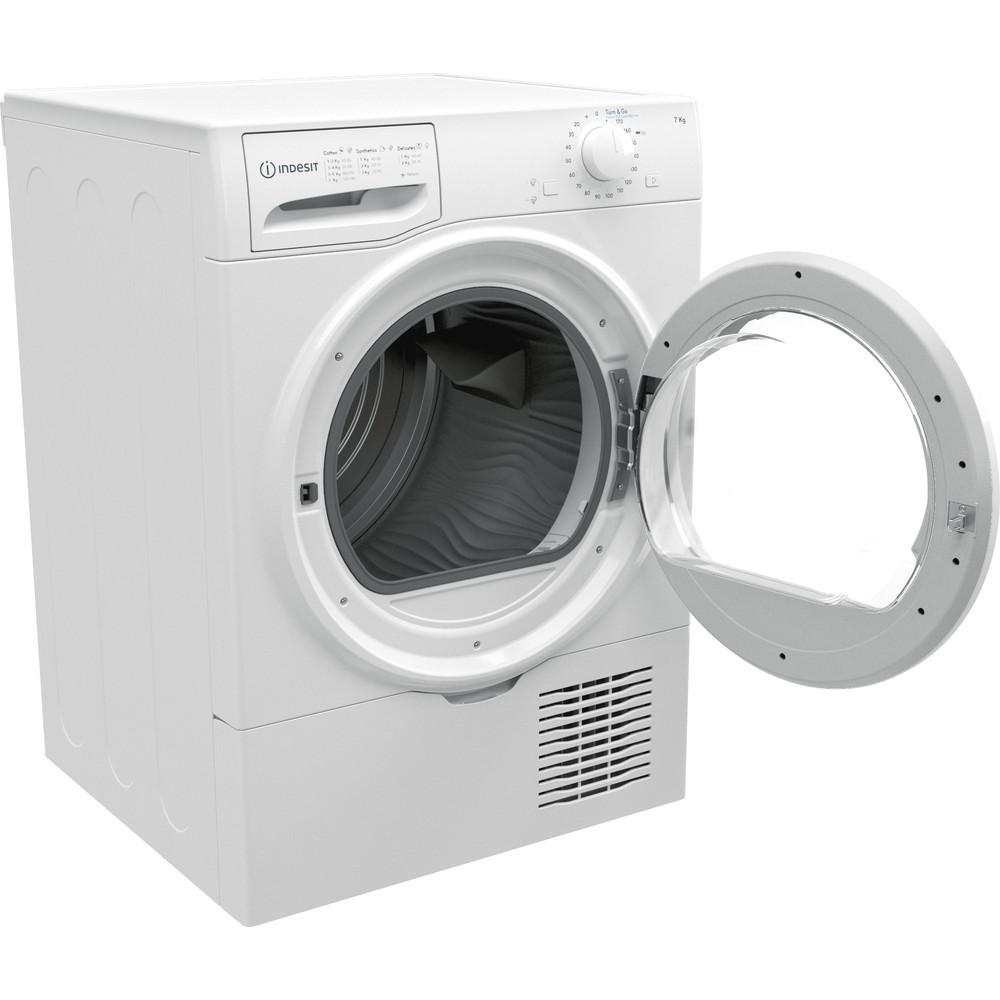 Indesit Droogautomaat I2 D71W EE Wit Perspective open