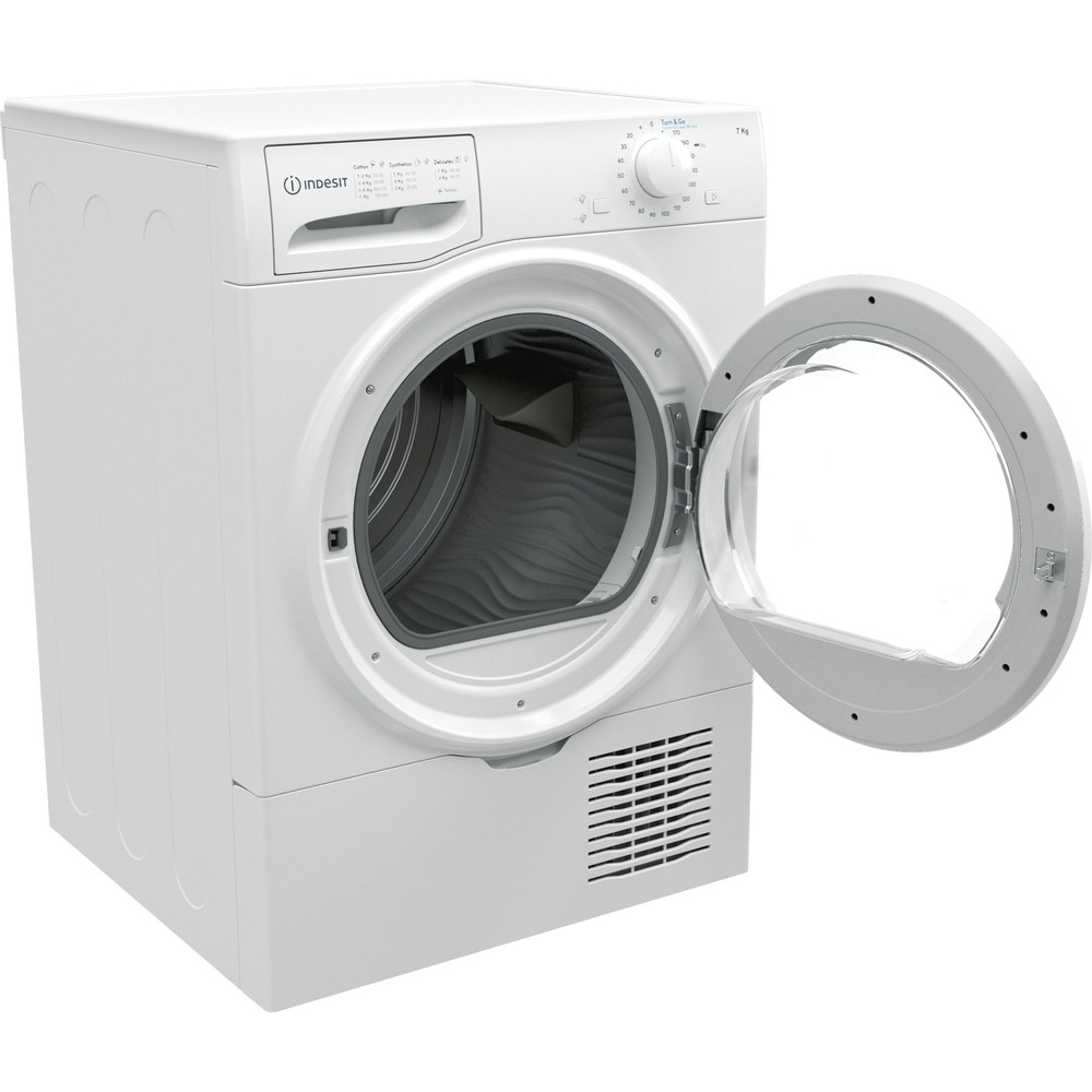 Indesit Dryer I2 D71W UK White Perspective open
