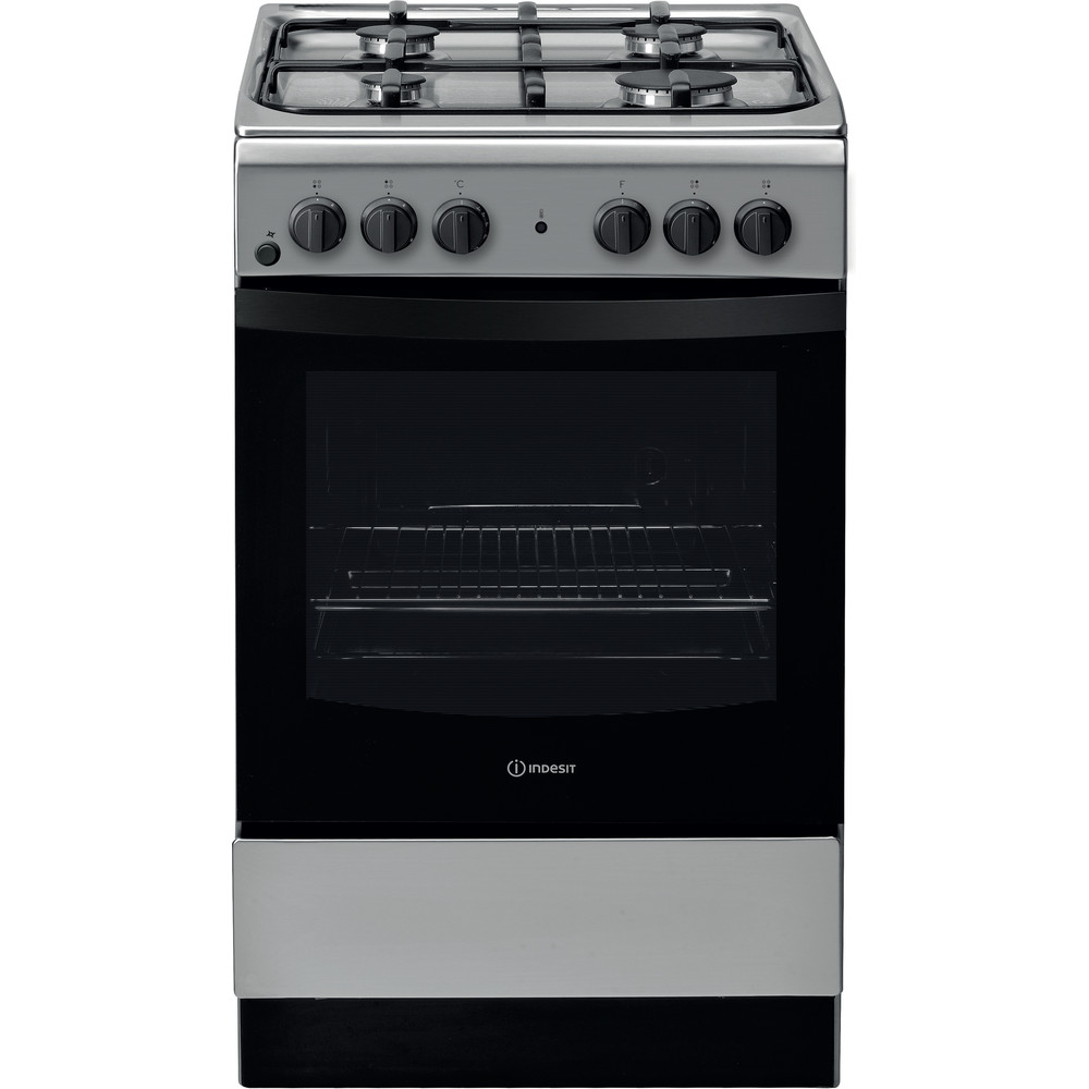 Indesit Cucina con forno a doppia cavità IS5G4KHX/IT Bianco GAS Frontal