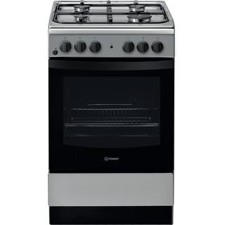 Indesit Cucina con forno a doppia cavità IS5G4KHX/IT Bianco GAS Frontal