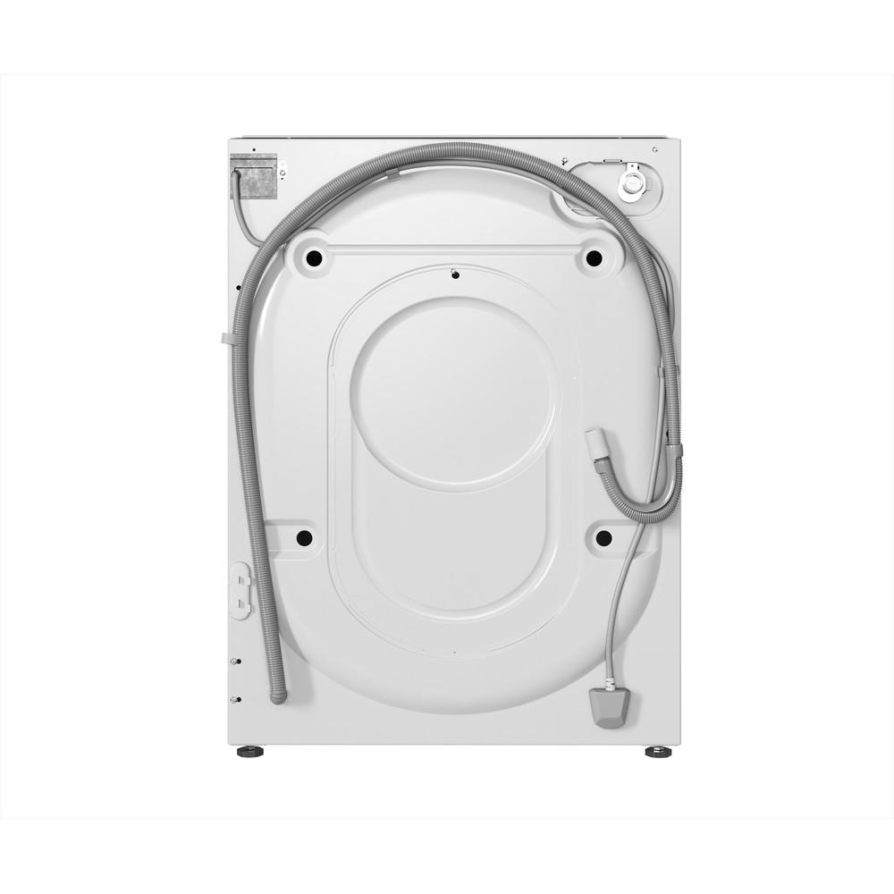 Indesit Máquina de lavar e secar roupa Encastre BI WDIL 861284 EU Branco Carga Frontal Back / Lateral