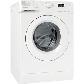 Indsit Maşină de spălat rufe Independent MTWA 91283 W EE Alb Încărcare frontală A +++ Perspective