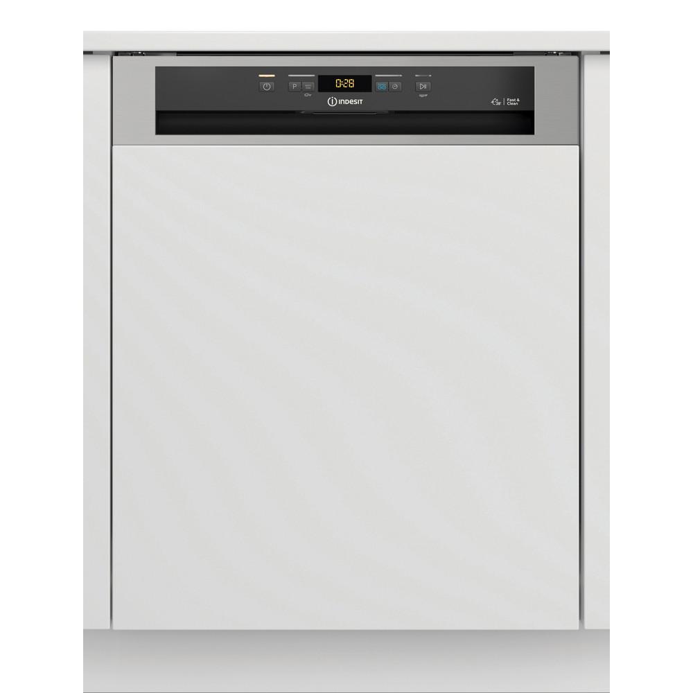 Indesit Lave-vaisselle Encastrable DBC 3C24 AC X Semi-intégré E Frontal