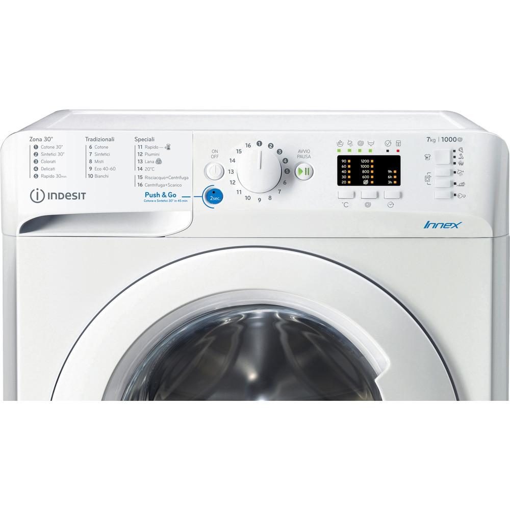 Indesit Lavabiancheria A libera installazione BWA 71052X W IT N Bianco Carica frontale A+++ Control panel