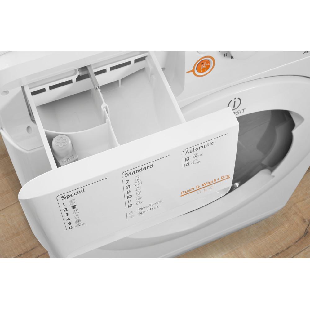 Indesit Lavasciugabiancheria A libera installazione XWDA 751680X W EU Bianco Carica frontale Drawer