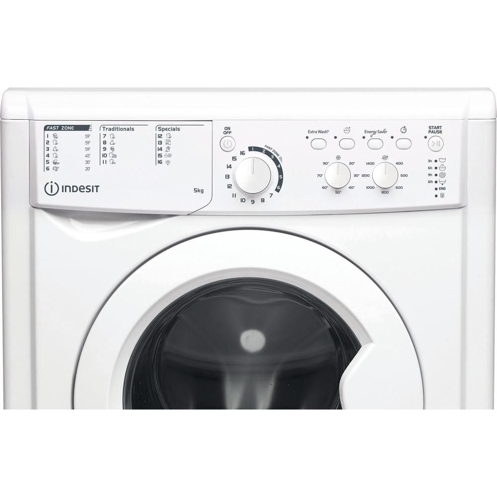 Indesit Wasmachine Vrijstaand EWC 51451 W EU N Wit Voorlader F Control panel
