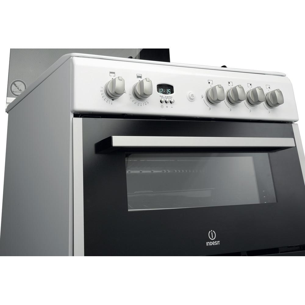 Indesit Double Cooker DD60G2CG(W)/UK White A+ Enamelled Sheetmetal Lifestyle_Control_Panel