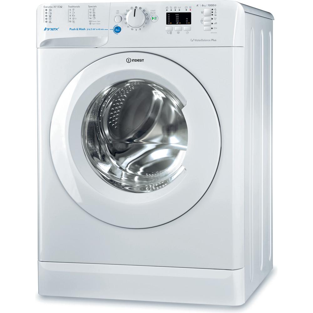 Indesit Pračka Volně stojící BWSA 61052 W EU Bílá Front loader A++ Perspective