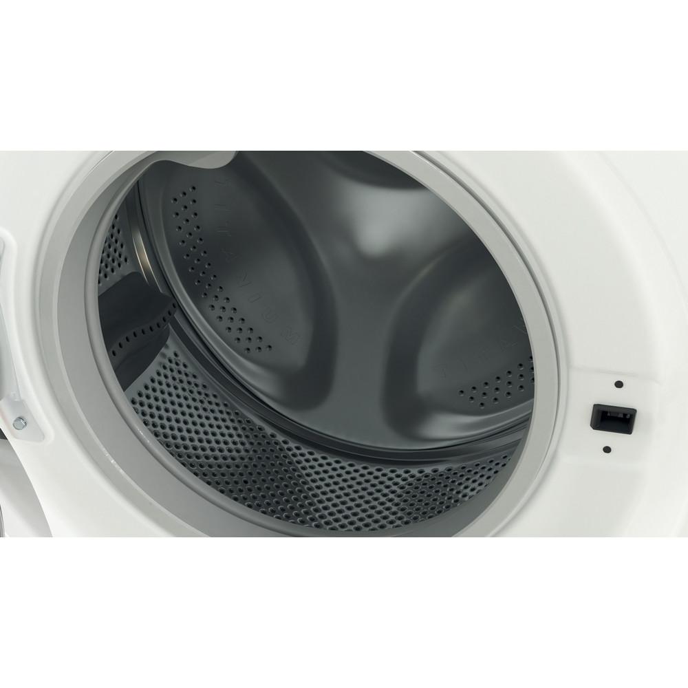 Indesit Перална машина Свободностоящи BWSA 71251 W EE N Бял Предно зареждане E Drum