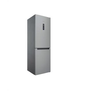 Indesit Hűtő/fagyasztó kombináció Szabadonálló INFC8 TO32X Inox 2 doors Perspective