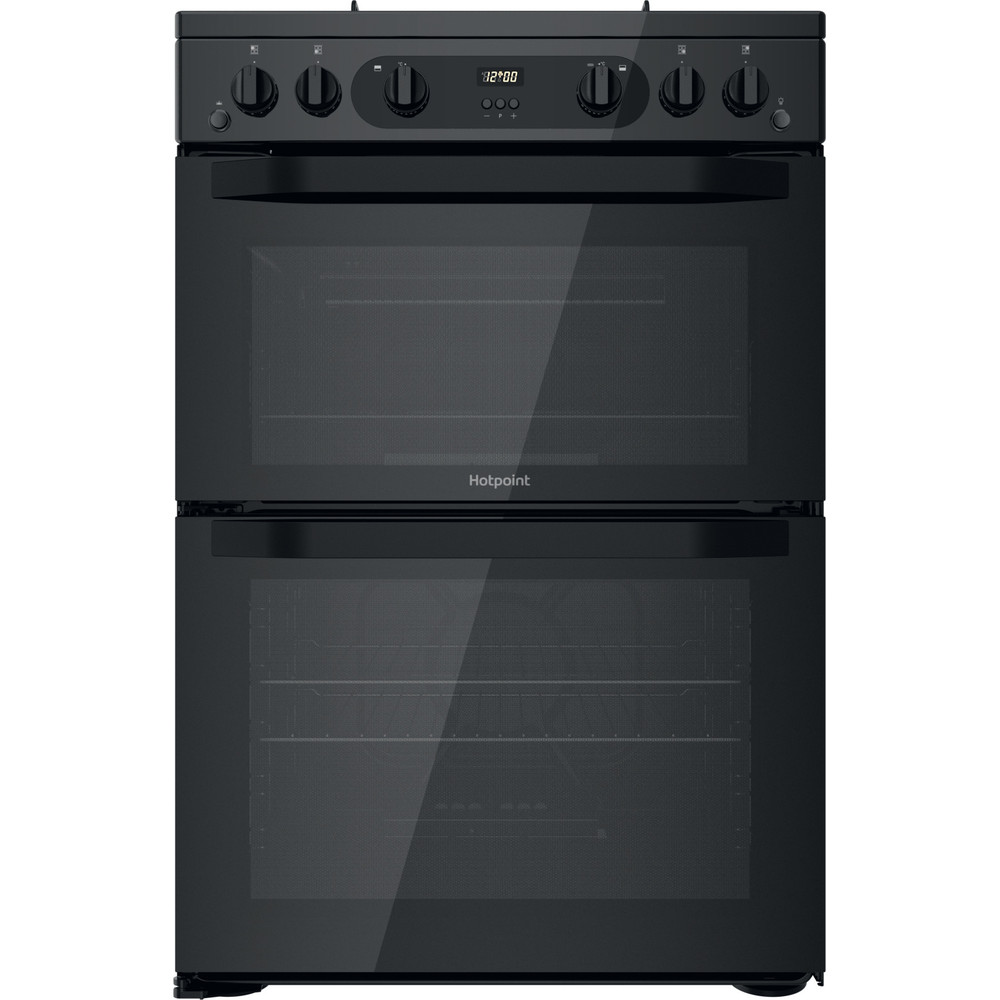 Hotpoint Double Cooker HDM67G0CMB/UK Black A+ Frontal