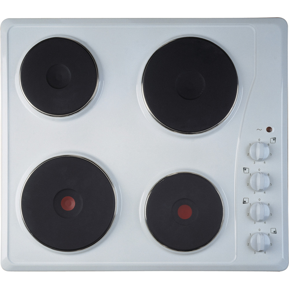 Indesit HOB TI 60 W White Solid Plate Frontal