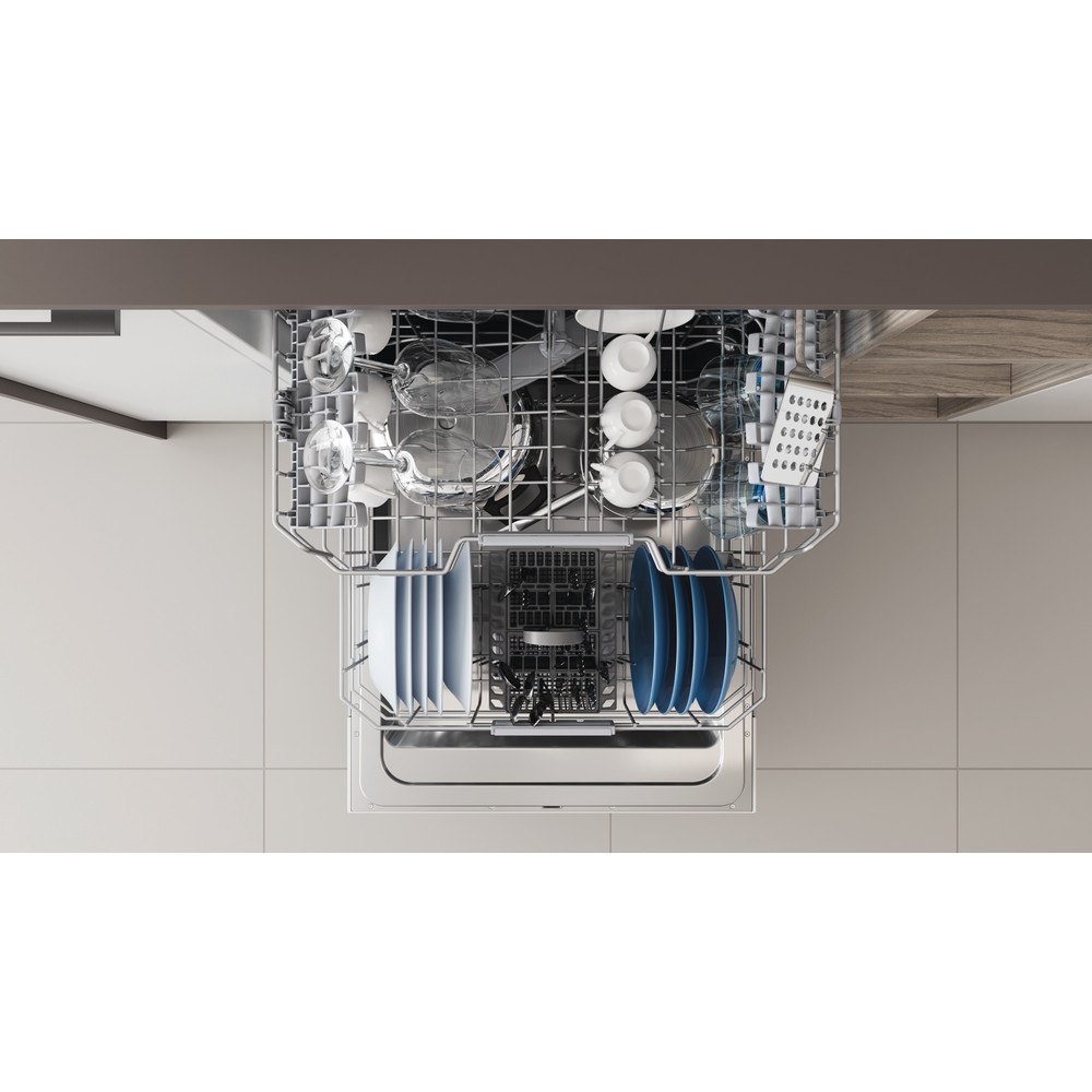 Indesit Máquina de lavar loiça Encastre DIC 3C24 A Encastre total E Rack