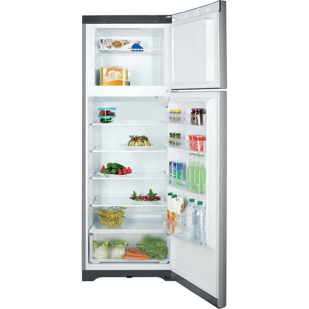 Indesit Комбиниран хладилник с камера Свободностоящи TIAA 12 X.1 Инокс 2 врати Frontal open