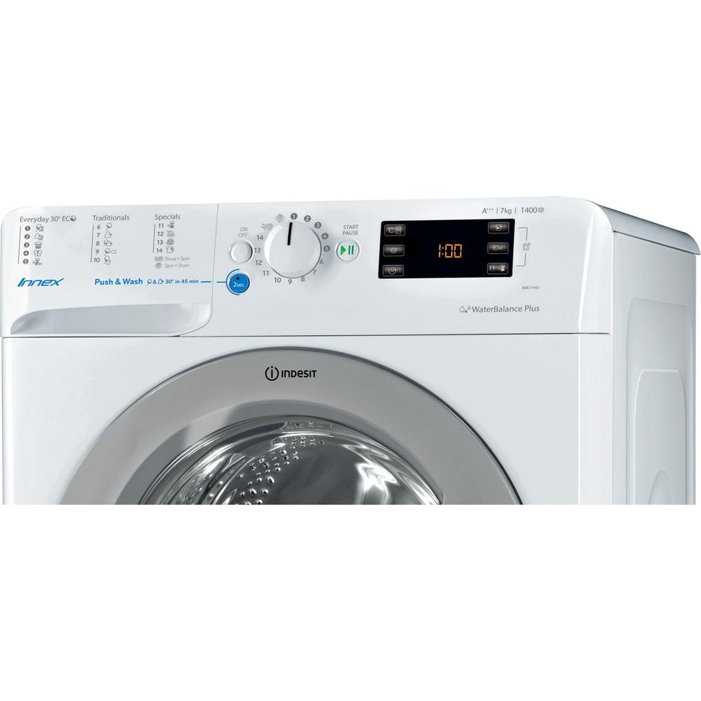 Indesit Pračka Volně stojící BWE 71453X WSSS EU Bílá Front loader A+++ Control panel