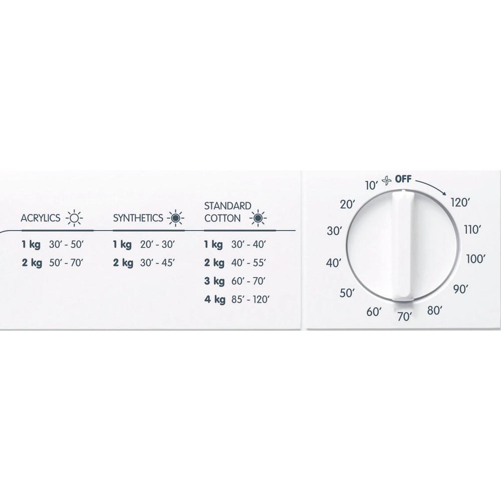 Indesit Dryer NIS 41 V (UK) White Control panel