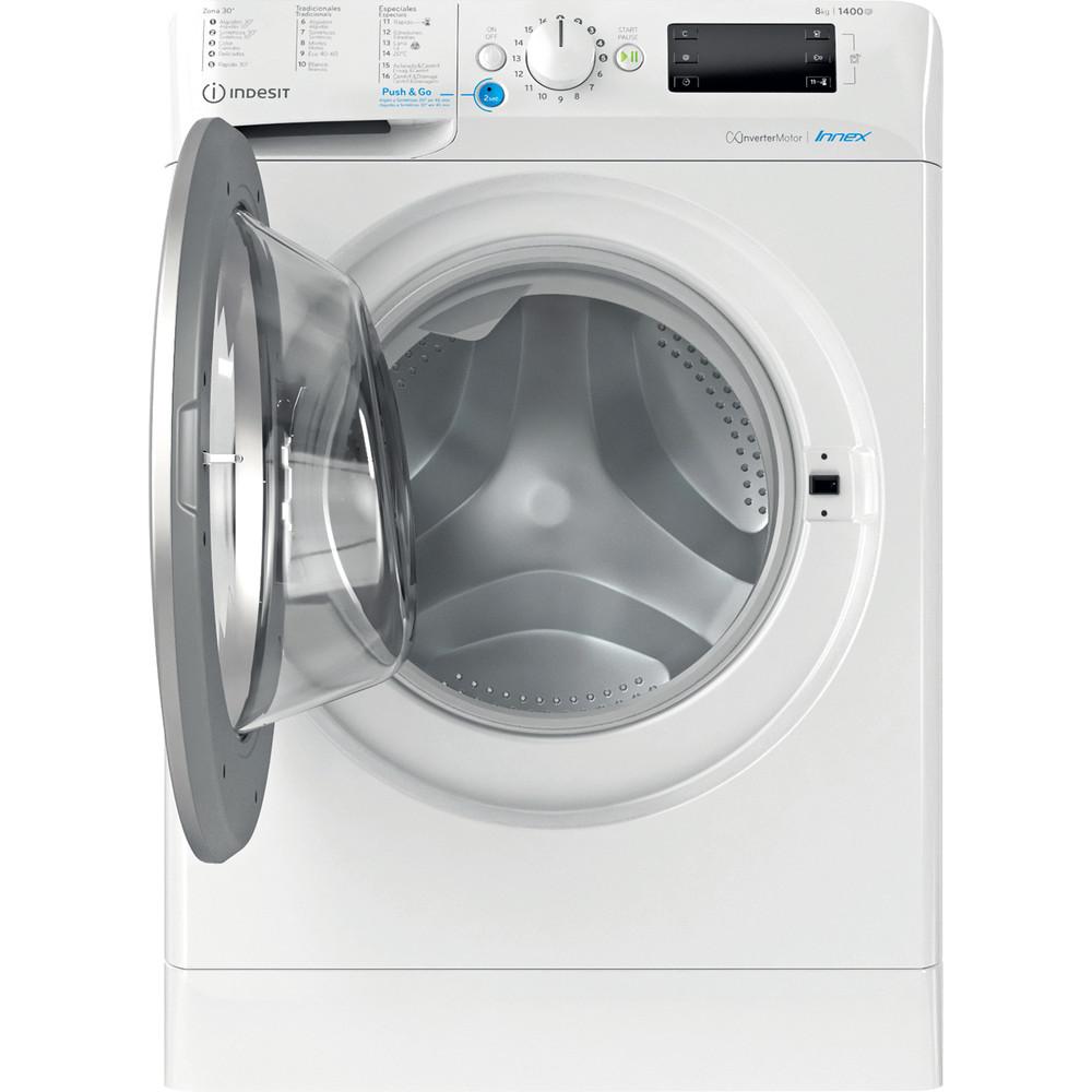 Indesit Máquina de lavar roupa Livre Instalação BWE 81484X WS SPT N Branco Carga Frontal C Frontal open