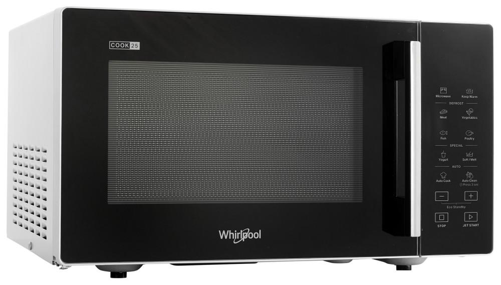 Whirlpool Mikrohullámú sütő Szabadonálló MWP 251 SB Fekete Érintőszenzoros kezelés 25 Csak mikorhullám 900 Perspective