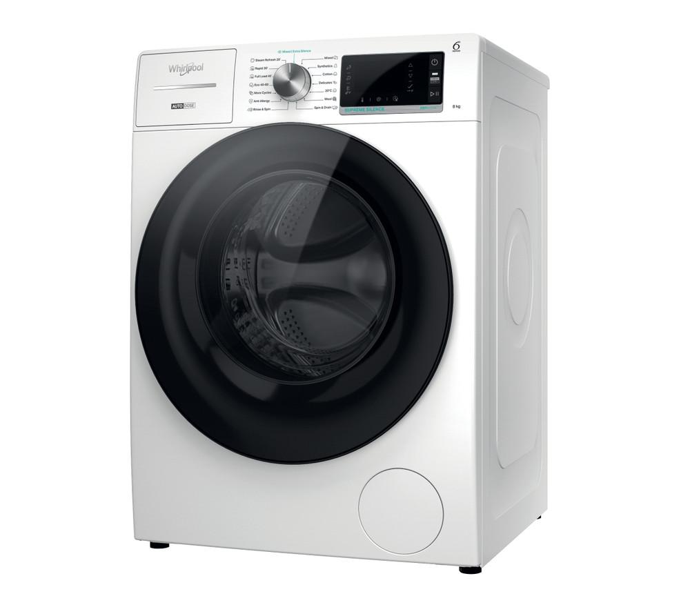 Whirlpool Washing machine Samostojeća W7X W845WB EE Bela Prednje punjenje Perspective