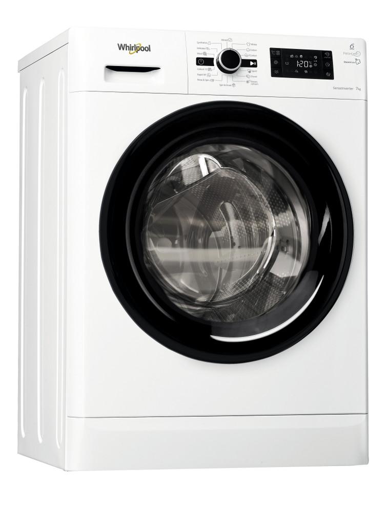 Whirlpool Washing machine Samostojeća FWSG71283BV EE Bela Prednje punjenje A+++ Perspective