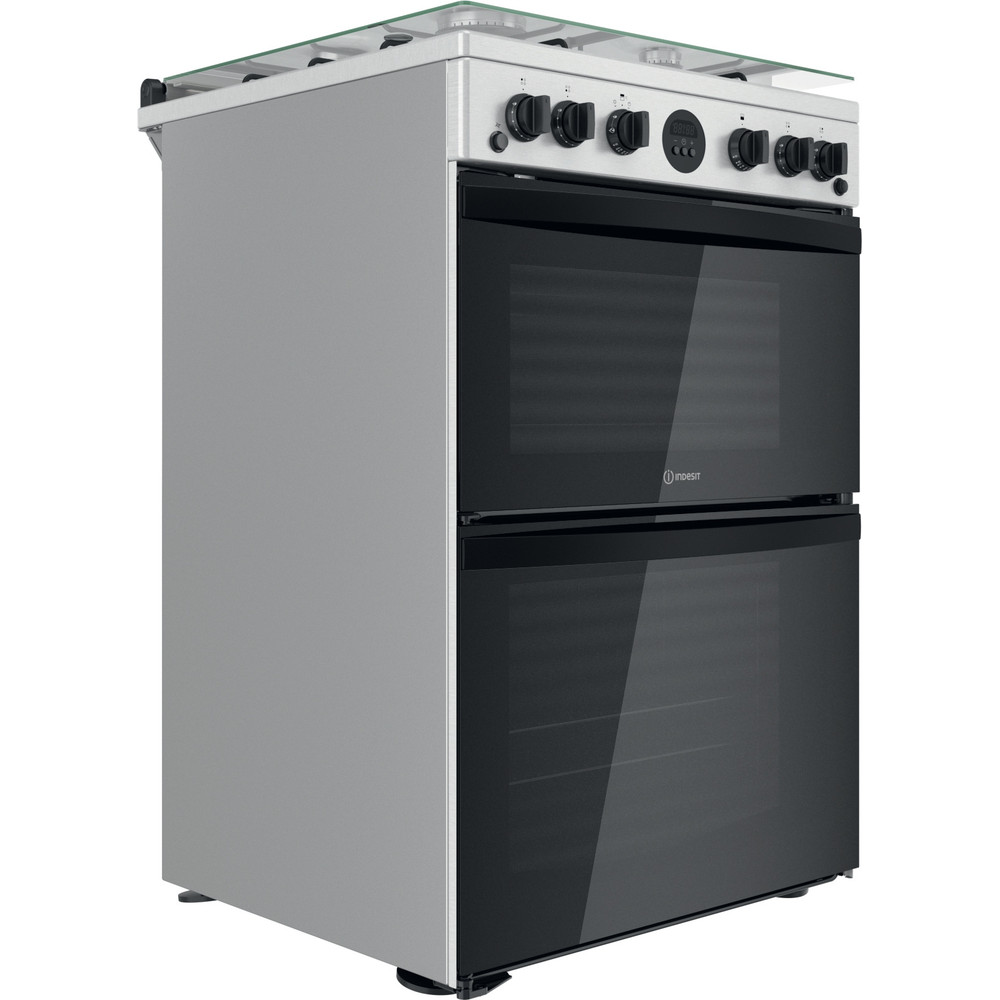 Indesit Double Cooker ID67G0MCX/UK Inox A+ Perspective