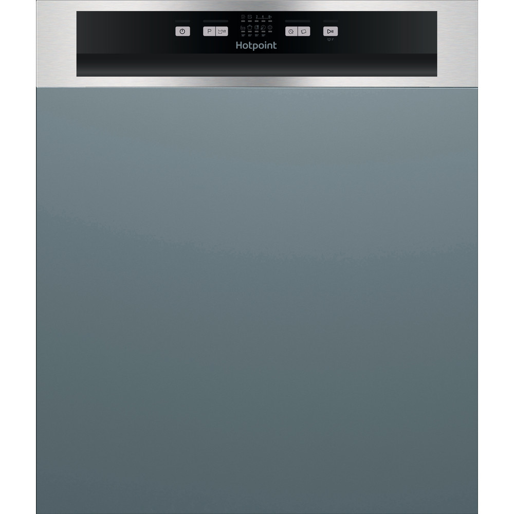 Hotpoint Dishwasher Built-in HBC 2B19 X UK N Half-integrated F Frontal