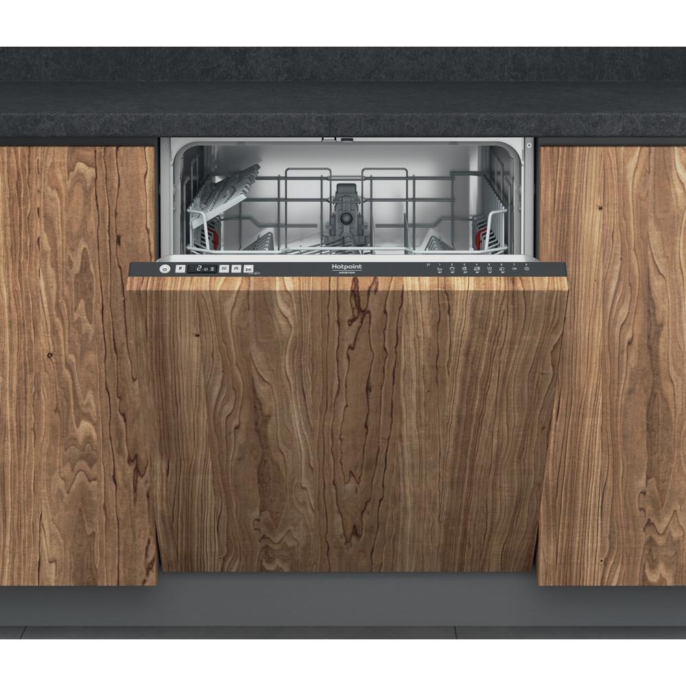 Hotpoint_Ariston Посудомоечная машина Встраиваемая HIC 3B19N Full-integrated A Frontal