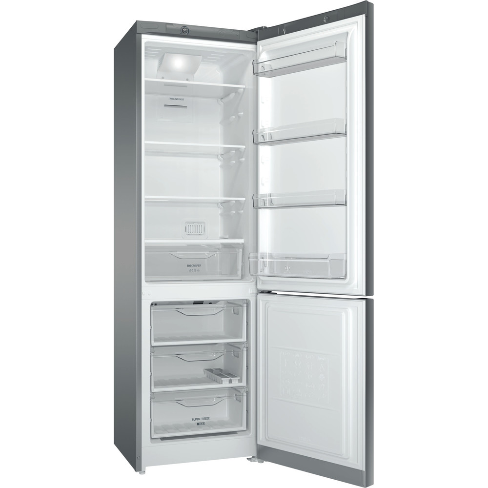 Indesit Холодильник с морозильной камерой Отдельностоящий DFE 4200 S Серебристый 2 doors Perspective open