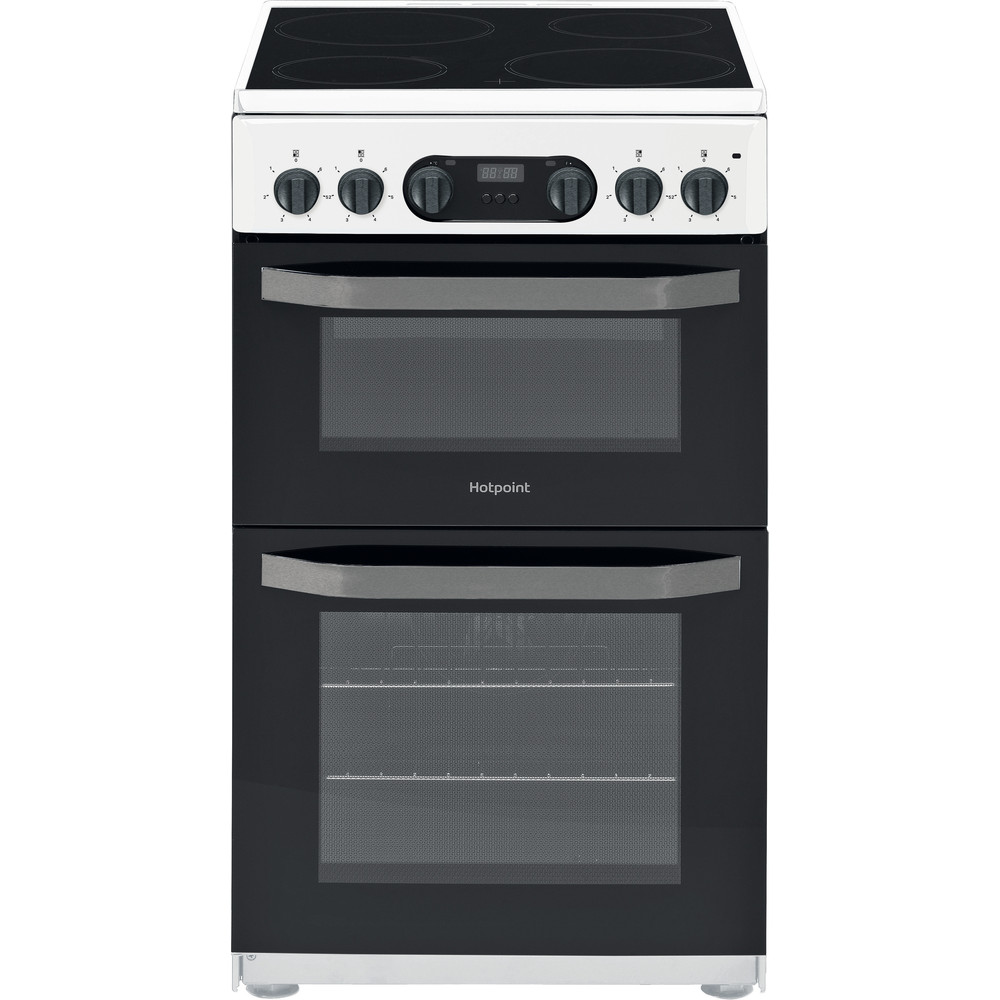 Hotpoint Double Cooker HD5V93CCW/UK White A Vitroceramic Frontal
