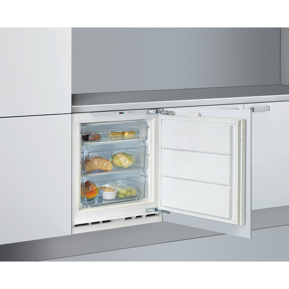 Indesit Freezer Built-in IZ A1.UK 1 Steel Perspective open