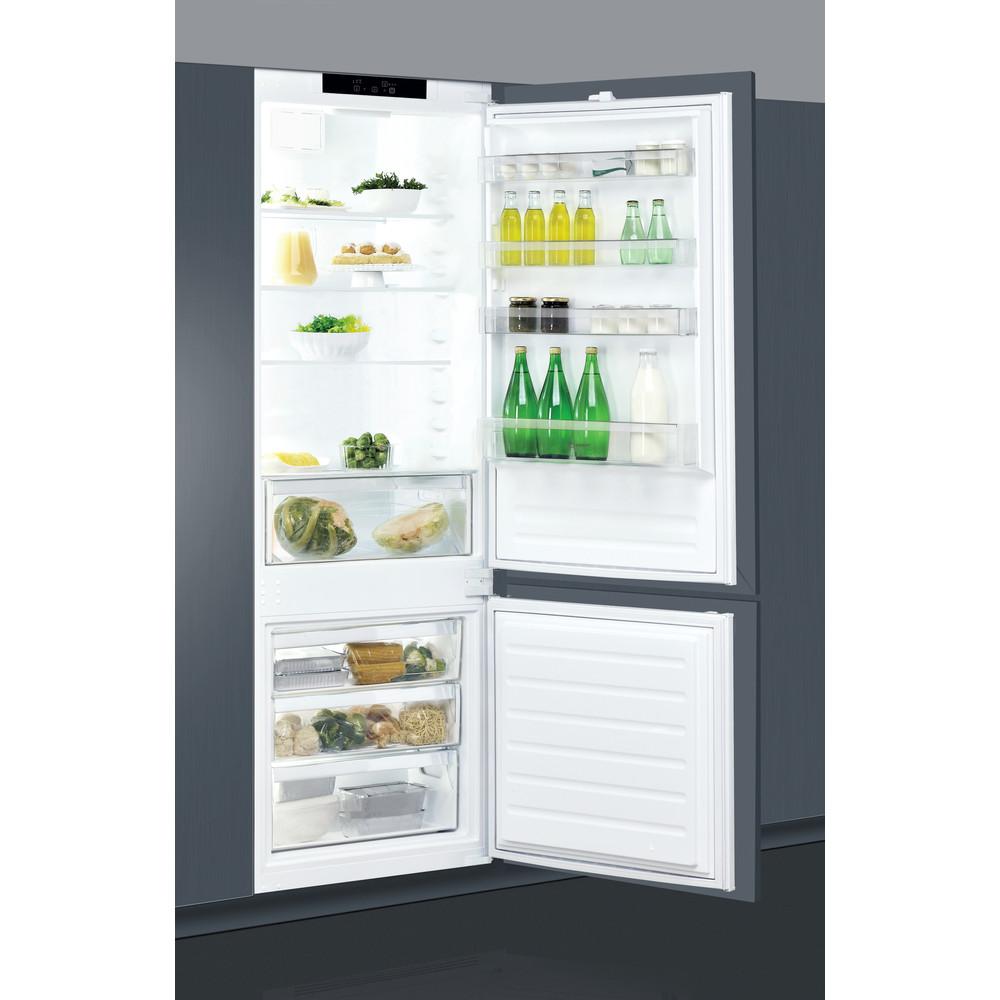 Indesit Combinazione Frigorifero/Congelatore Da incasso IND 401 Bianco 2 porte Lifestyle perspective open