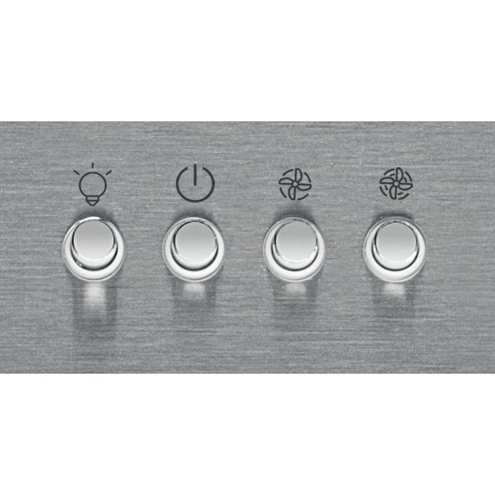Indesit Kjøkkenvifte Integrert IHBS 6.5 LM X Inox Wall-mounted Mekanisk Control panel