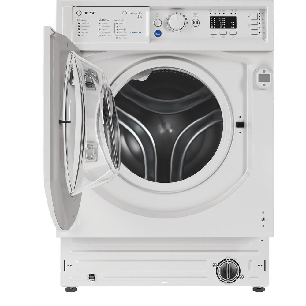 Indesit Washing machine Built-in BI WMIL 81284 UK White Front loader C Frontal open