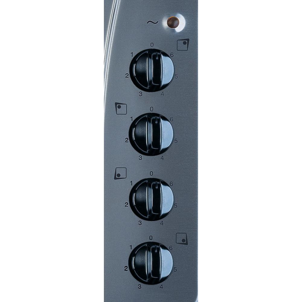 Indesit Piano cottura TI 60 X Inox Solid Plate Control panel
