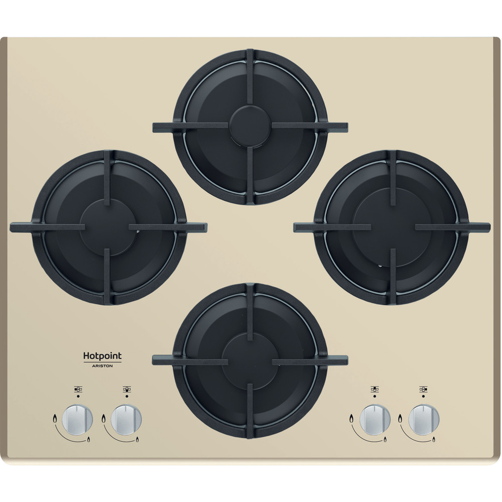 Hotpoint_Ariston Piano cottura HAGD 61S/CH Champagne GAS Frontal