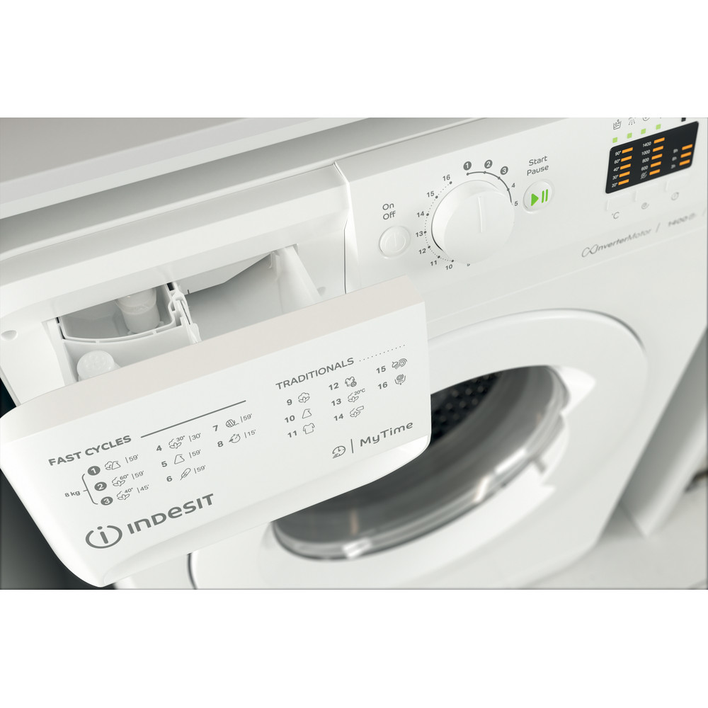 Indesit Tvättmaskin Fristående MTWA 81483 W EU White Front loader A+++ Drawer