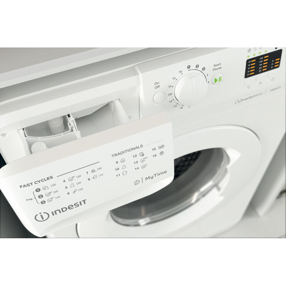 Indesit Vaskemaskine Fritstående MTWA 81483 W EU Hvid Frontbetjent D Drawer