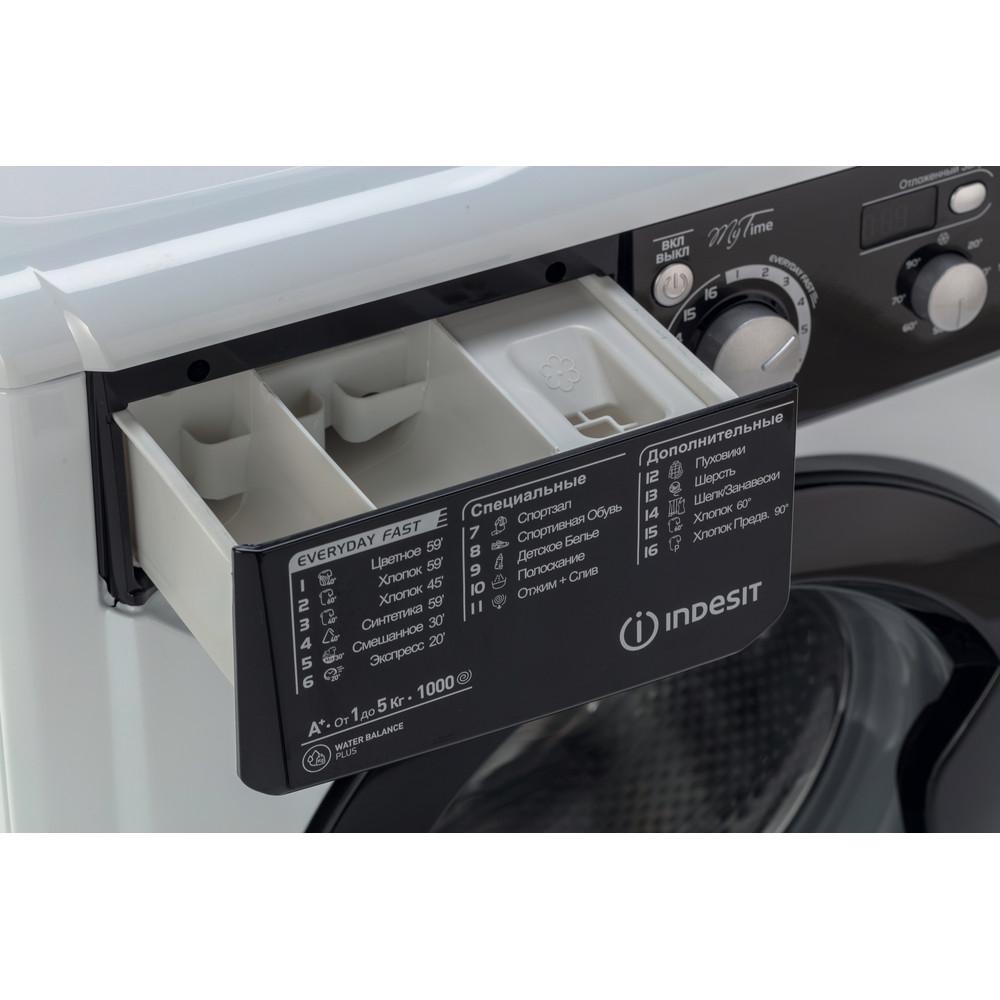 Indesit Стиральная машина Отдельностоящий EWSD 51031 BK CIS Белый Фронтальная загрузка A Drawer
